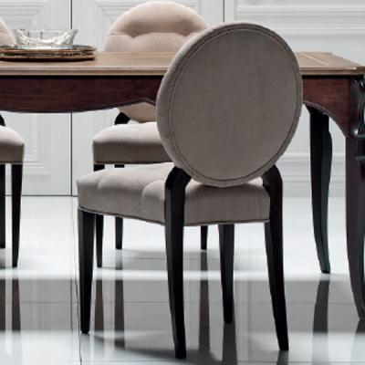 Мод. Cezanne - трапезарен стол от масивна дървесина с текстилна или кожена тапицерия. Производител: FM Bottega D'Arte, Италия. Л