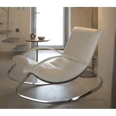 Мод. Chandelier- Люлеещо се кожено кресло с метална основа. Производител: Cierre, Италия.