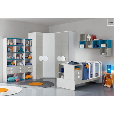 Италиански мебели за най-малките. Колекция Baby, композиция B504. Colombini, Италия. Обзавеждане за бебешки стаи - бебешки кошар