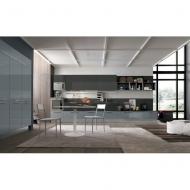 Модерна модулна кухня модел Lungomare. Colombini, Италия. Модерни модели италиански кухни с меламиново или лаково покритие.