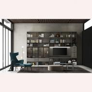Модерни, луксозни италиански мебели за дневна. Колекция Speed, Dallagnese, Италия. Холни и тв композиции.
