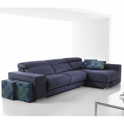 Модерна испанска мека мебел с интегрирани табуретки модел Rene. Dina tapizados, Испания. Испански дивани- ъглови, с лежанка, дву