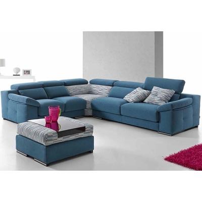 Модерна мека мебел с механизми на гръбните и седални възглавници модел Vera. Dina tapizados, Испания. Испански дивани - ъглов, с
