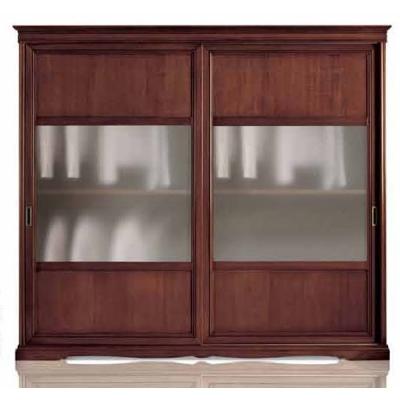 Мод. Erica - класически гардероб от масив, естествен фурнир и стъкло. Производител: Crema Francesco, Италия. Класически италианс