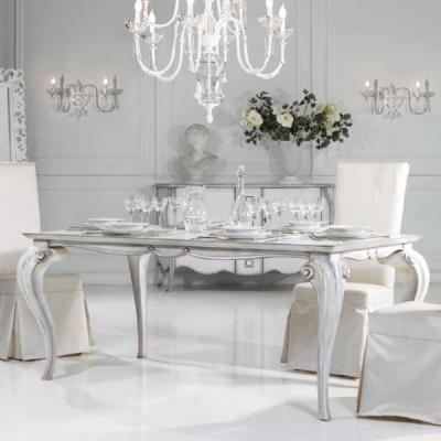 Класическа маса за трапезария мод. Fabian - трапезарна маса от масивна дървесина и естествен фурнир.  Производител: Epoque, Итал