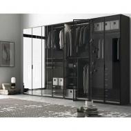Луксозен гардероб със стъклени или огледални врати модел Glass. Dall'Agnese, Италия. Модерни италиански гардероби със стъклени и