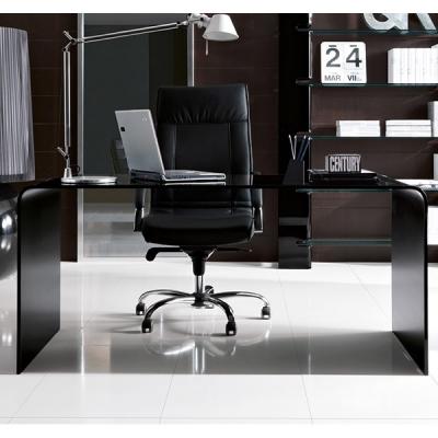 Модел Golden - работна маса/ бюро от закалено 15mm стъкло. . Производител: Unico Italia, Италия. Модерни италиански стъклени раб