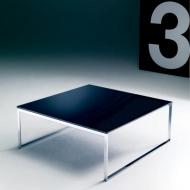 Модерна маса за всекидневна, модел Hip Hop, производител Bontempi, Италия. Помощна маса, структура метал, лакови покрития, стъкл