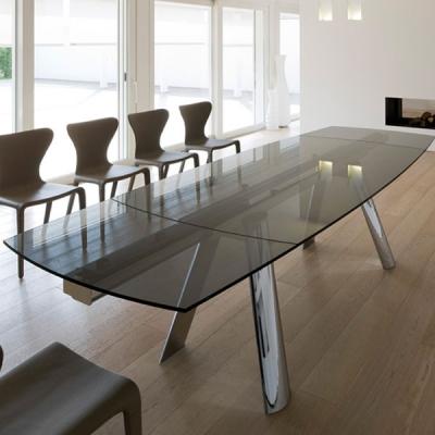 Мод. Infinity- модерна трапезна маса с разтягане от алуминии и стъкло. Производител: Antonello, Италия. Луксозни италиански трап