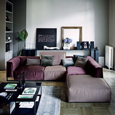 Мека мебел мод. Inkas. Производител- Arketipo, Италия. Дивани с неповторим, уникален стил посредством различните в размера гръбн