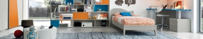 Модерни мебели за юношески стаи. Колекция Golf Young, примерна композиция Y505. Colombini, Италия. Италианско обзавеждане за юношески и детски стаи - цялостни решения.