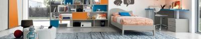 Класически италиански мебели за детси и юношески стаи. Колекция Arcadia, Colombini, Италия. Италиански мебели за детски стаи - за 1 дете, 2 деца, с надстойка, гардерпби, бюра и др.