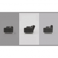 Мод. Kafka- мека мебел с кожена тапицерия, пух и механизми  за промяна височината на гръбните възглавници. Производител: Cierre,