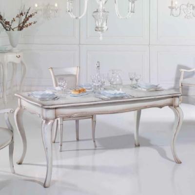 Класическа разтегаема маса за трапезария от масив и естествен фурнир мод. Kenzie.  Производител: Epoque salotti, Италия. Класиче