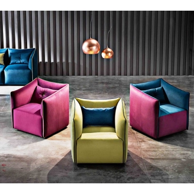 Модерна кресло модел Kubik. Производител: Le Comfort, Италия. Модерни италиански мебели за дневна - дивани, кресла, мека мебел.