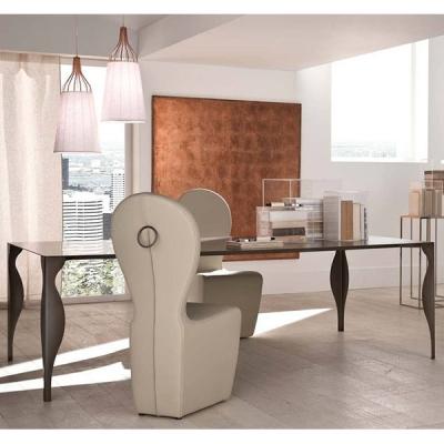 Мод. Lady - трапезна маса с метални крака и плот. Производител: Cantori, Италия. Луксозни италиански трапезарни маси с метални к