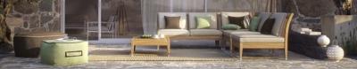 Колекция Caleta - мебели и аксесоари подходящи за външни условия. Производител: Point, Испания. Луксозни испански мебели за градина, тераса, веранда, заведение, двор - дивани, кресл