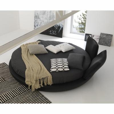 Модерна кръгла спалня с изцяло сваляща се текстилна или кожена тапицерия модел Miami. Производител: Bolzan, Италия. Луксозни ита