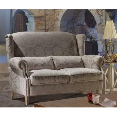 Класически диван мод. Mike. Производител: TreCi Salotti, Италия. Италиански класически дивани с висок гръб, пух, текстилна дамас