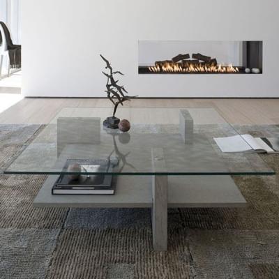 Мод. Zen - маса за всекидневна с основа от масив (естествен фурнир или лак) и плот от закалено стъкло. Производител: Antonello,