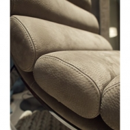 Мод. Monet- Лежанка - люлка с кожена тапицерия и метална основа. Производител: Cierre, Италия.