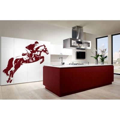 Модерна и дизайнерска кухня с дигитално принтирани стъклени врати модел Passion. Arrex, Италия. Модерни и дизайнерски италиански