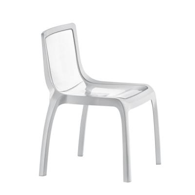 Трапезарен стол от двуцветен поликарбонат мод. Miss you. Производител: Pedrali, Италия.