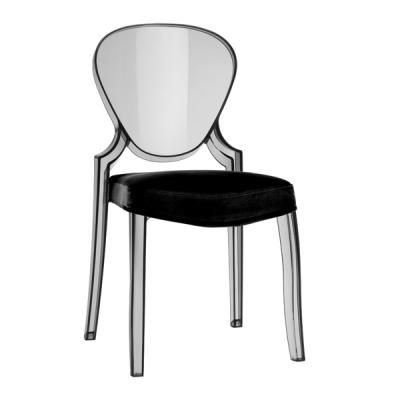 Трапезарен стол от поликарбонат мод. Queen. Производител: Pedrali, Италия.