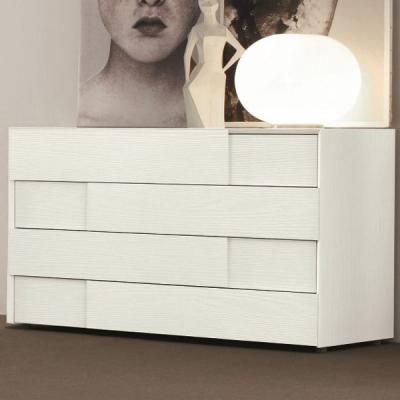 Мод. Prestige - скрин и нощно шкафче с цветно лаково покритие, естествен фурнир или еко кожа. Производител: SMA Mobili, Италия