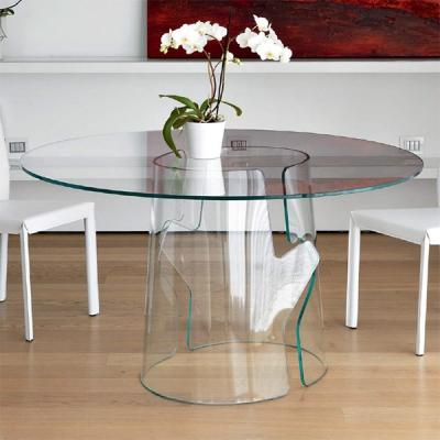 Мод. Puzzle - стъклена трапезарна маса с кръгъл, овален или правоъгълен плот - 12 mm. Основа – закалено 15 mm стъкло. Производит