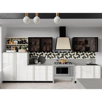 Модерна кухня модел Quadra. Colombini, Италия. Модерни италиански модели модулни кухни с меламиново, лаково, масивно или друго п