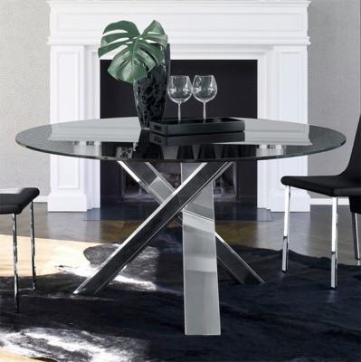 Мод. Resort- фиксирана трапезарна маса с крака от масив или стомана и стъклен плот. Производител: Antonello, Италия.