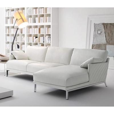 Италианска мека мебел с кожена тапицерия модел Douglas. Rigosalotti, Италия. Модерни италиански дивани с кожа.