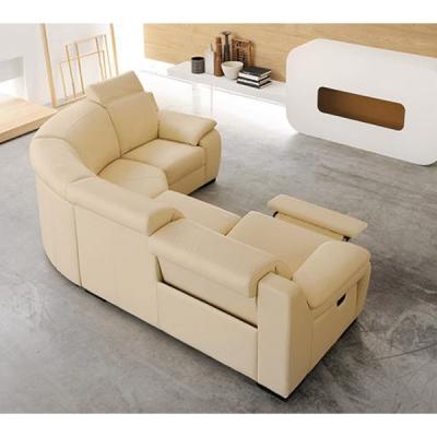 Модерен италиански кожен диван с релакс механизми. Модел Ralph. Производител: Rigosalotti, Италия.