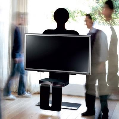 TV стойка мод. Robot - хромирана стомана и закалено стъкло. Производител: Unico Italia, Италия. Модерни италиански TV стойки от