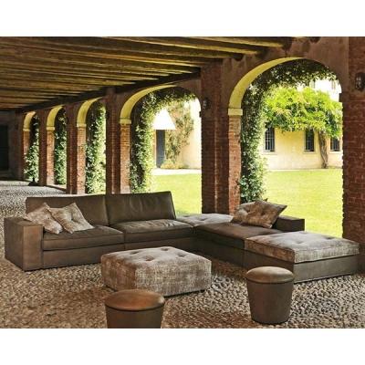 Модерен, винтидж модулен диван с пух, кожена или текстилна тапицерия. Модел Sally, G&G, Италия. Луксозни винтидж италиански мебе