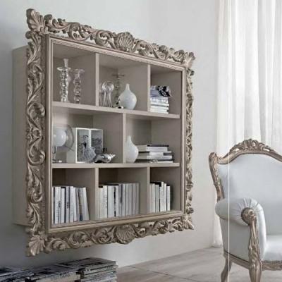 Мод. Vogue - библиотека с декоративна рамка. Производител: Santarossa, Италия. Луксозни итлиански класически и неокласически биб