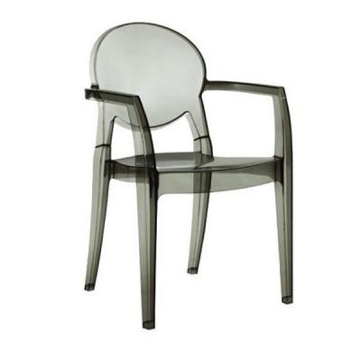 Трапезен стол от прозрачен или плътно оцветен поликарбонат мод. Igloo. Производител: SCAB Design, Италия.