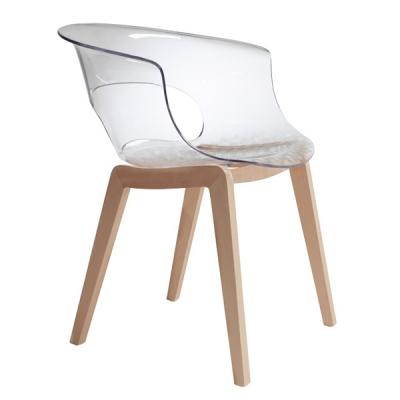 Трапезарен стол със седалка от подсилен поликарбонат мод. Natural Мiss B Аntishock. Производител: SCAB Design, Италия