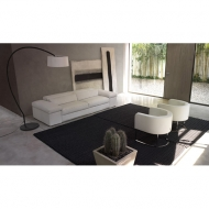 Мод. Symphony- мека мебел с кожена тапиверия. Производител: Cierre imbottiti, Италия. Луксозни италиански кожени дивани.