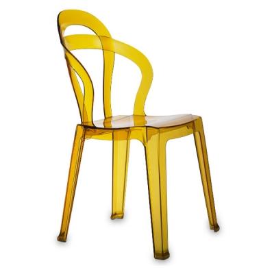 Трапезен стол от поликарбонат- прозрачен или плътни цветове. мод. Тiti. Производител: SCAB Design, Италия. Трапезарни италиански
