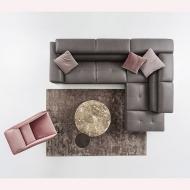 Модерна модулна мека мебел с кожена или текстилна тапицерия модел Tiziano. Nicoline, Италия. Луксозни италиански мебели- дивани,
