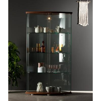 Луксозна италианска витрина с  естествен фурнир или лаково покритие модел Gracia. Производител - Tonin casa, Италия. Модерни ита