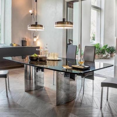 Луксозна трапезна маса с механизъм или фиксирана модел Manhattan. Tonin casa, Италия. Модерни италиански мебели - маси, столове,