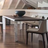 Луксозна трапезарна маса, фиксирана или с механизъм за разтягане. Модел Roma. Tonin casa, Италия.