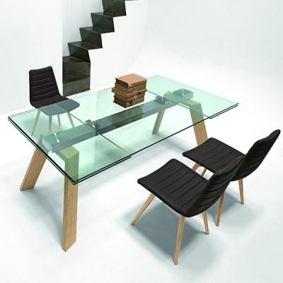 Трапезарна маса, фиксирана или с разтягане модел Portofino. Midj, Италия. Крака - масив, метал или стъкло. Плот - естествен фурн
