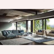 Модулна мека мебел с кожена или текстилна тапицерия модел Tortona. Nicoline, Италия. Модерни италиански мебели - дивани, мека ме