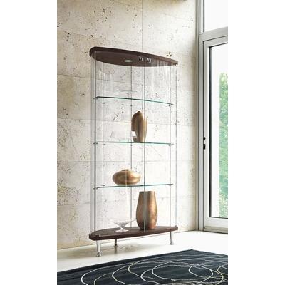 Стъклена витрина Мод. Arco. Производител: Unico Italia, Италия. Модерни италиански витрини за дневна и трапезария.
