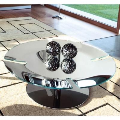 Холна маса мод. Bond - метална хромирана основа и стъклен плот с огледален ефект. Производител: Unico Italia, Италия.  Модерни к