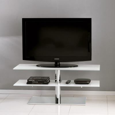 TV стойка мод. Down - хромирана стомана и закалено стъкло. Производител: Unico Italia, Италия. Модерни италиански ТВ стойки.
